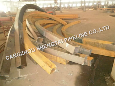 china square steel pipe with bending manufacturing/supplier