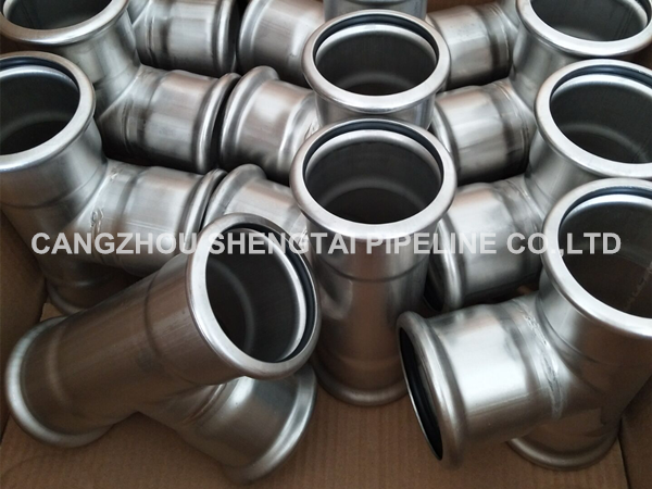 china SUS304 single compression pipe fittings tee factory manufacturing/supplier